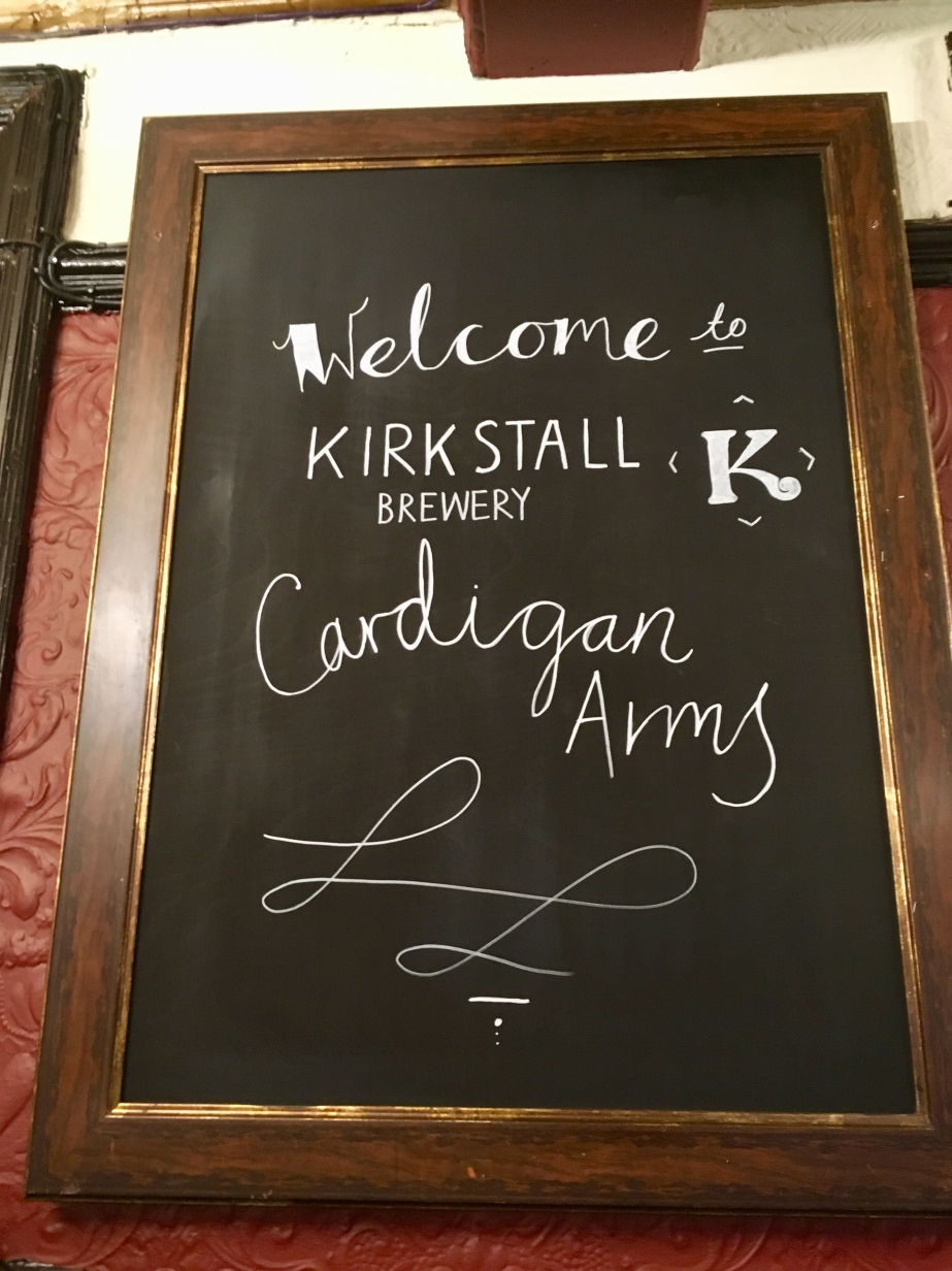 Cardy welcome sign