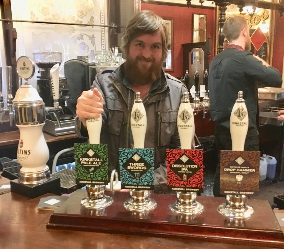 John serving beer